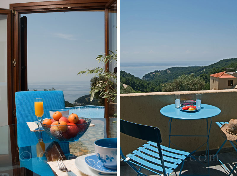 Outdoor Dining with View at Villa in Alonsissos