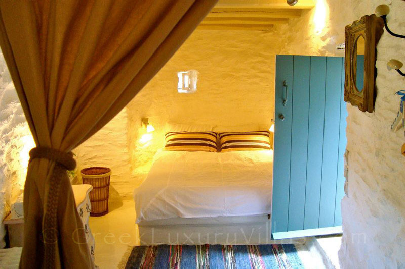 Bedroom of Traditional Villa in Andros