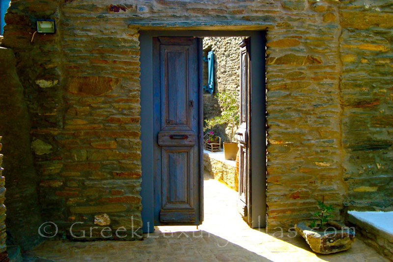Entrance to Traditional Villa in Andros