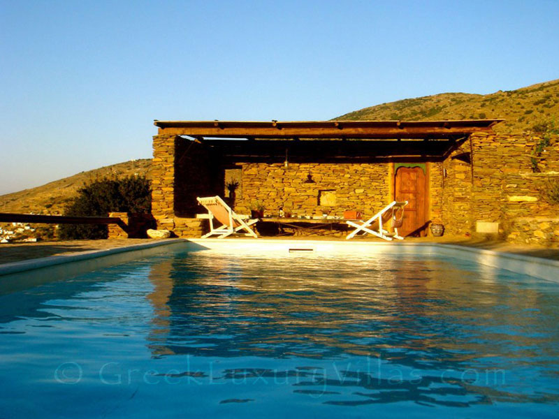 Beautifully Restored Traditional Villa with Pool in Andros