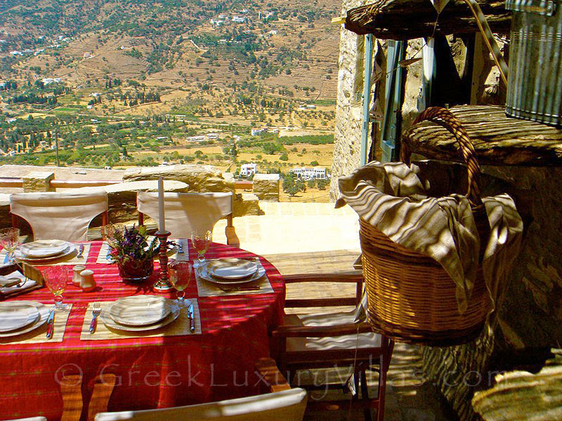 Lunch with a View over the Valley of Korthi