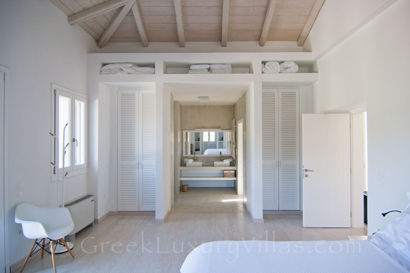 Master Bedroom of Luxury Villa in Andros