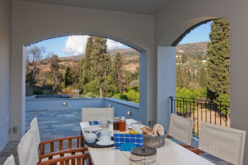 Al Fresco Dining at Luxury Villa in Andros