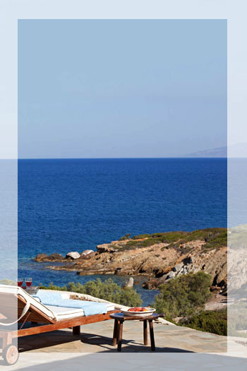 Beachfront Villa with Pool in Glyfa Antiparos, Greece