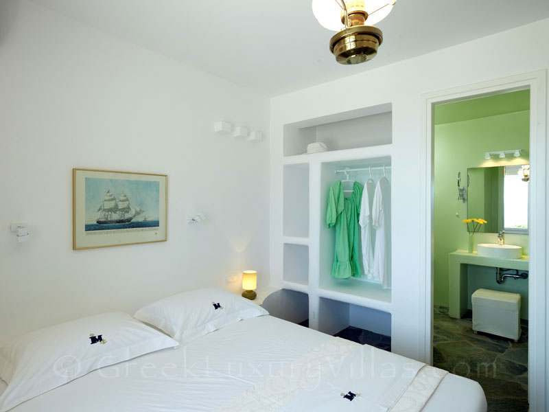 Double Bedroom of Luxury Villa in Antiparos