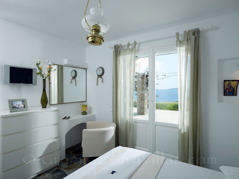 Seaview Bedroom of Villa in Antiparos