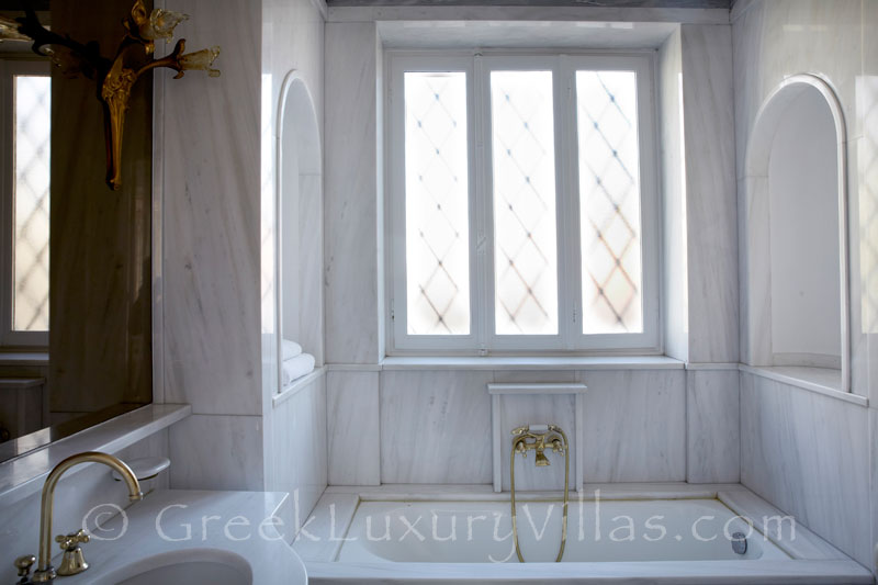 Old Marble Bathroom of Villa in Plaka, Athens