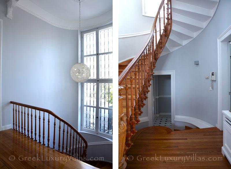 Neoclassic Villa in Athens Plaka Staircase