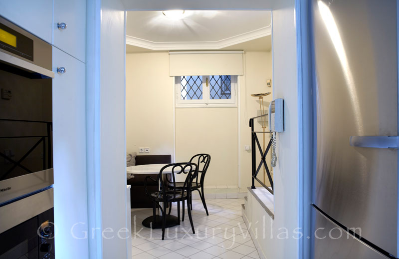 Kitchen and Dining Area of Villa in Athens Plaka