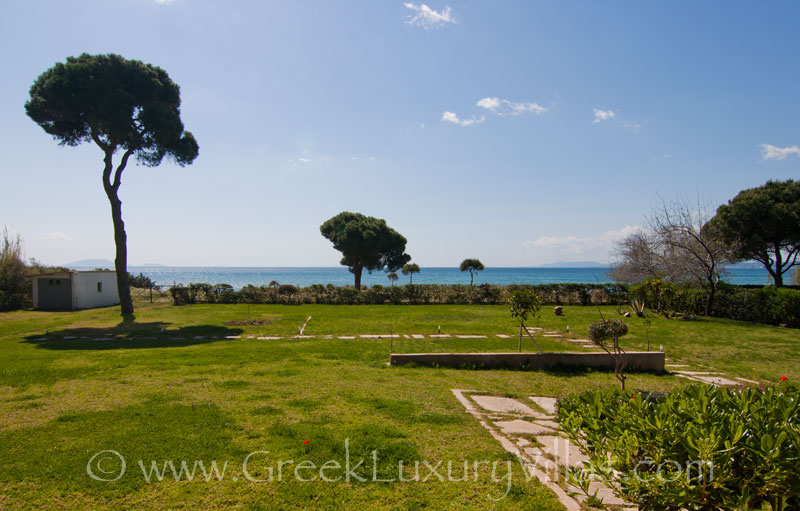 View of the beach from the villa, Athens