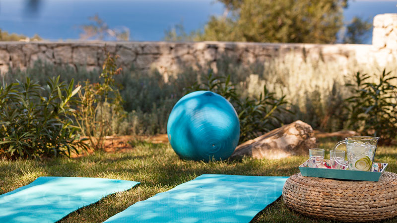 Enjoy yoga with seaview at a luxurious villa in Corfu