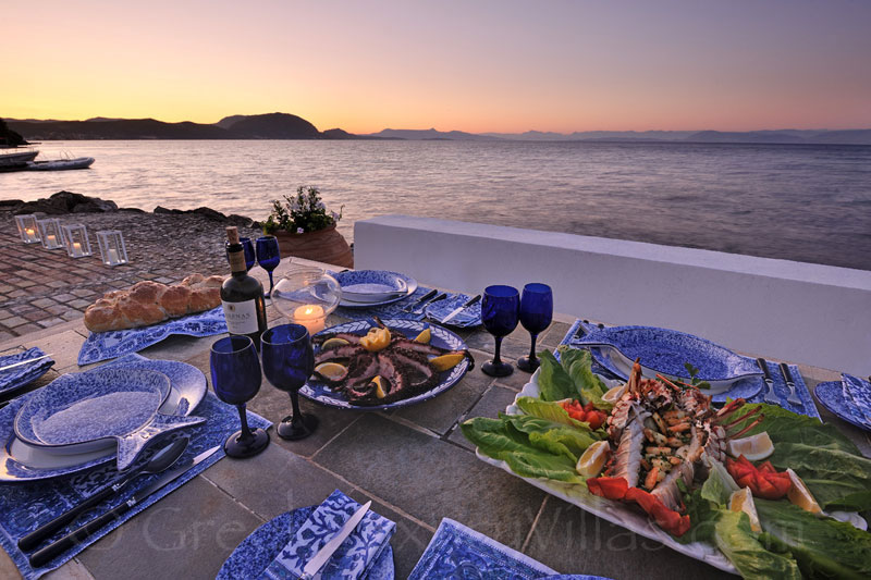 Dining Directly by the Sea in Corfu