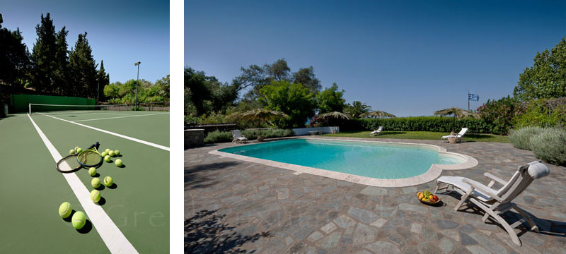 Villa with Private Tennis Court and Pool