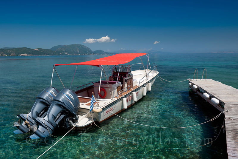 Speed Boat Available at Villa Corfu