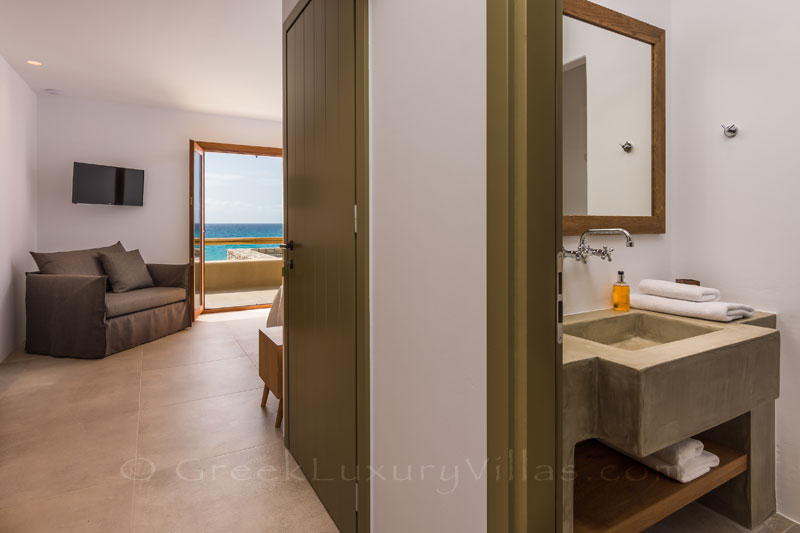 En-Suite Bedroom in an absolute beachfront luxury villa