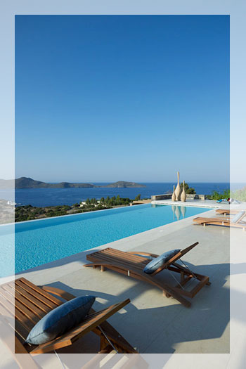 Big Contemporary Villa with Infinity Pool in Elounda, Crete