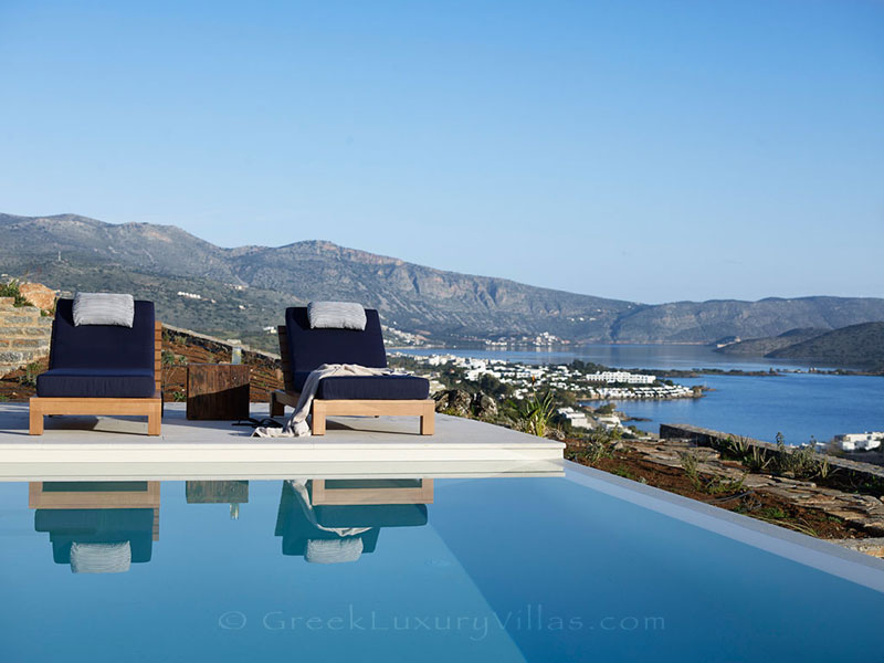 Luxury villa with a pool in Elounda, Crete