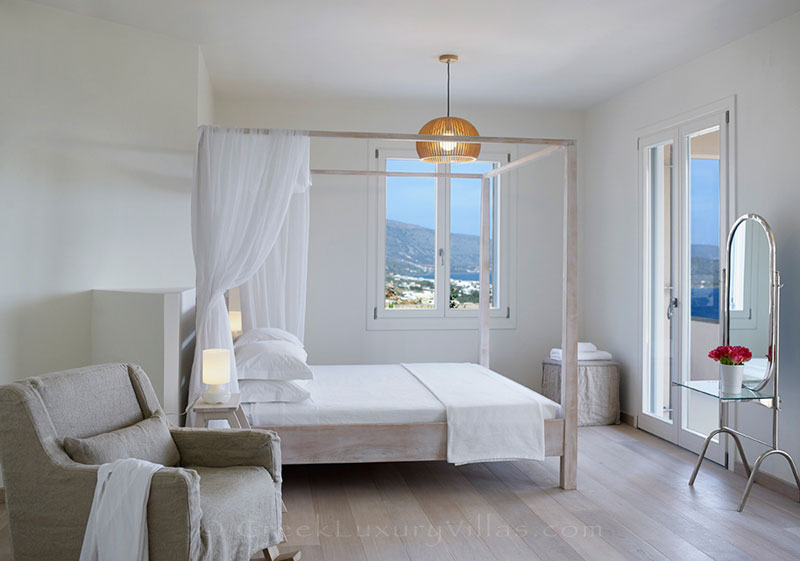 Seaview from a bedroom in a luxury villa in Elounda, Crete