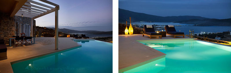 A luxury villa with a pool in Elounda, Crete