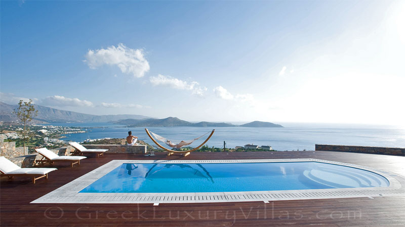 Modern luxury villa overlooking Elounda bay