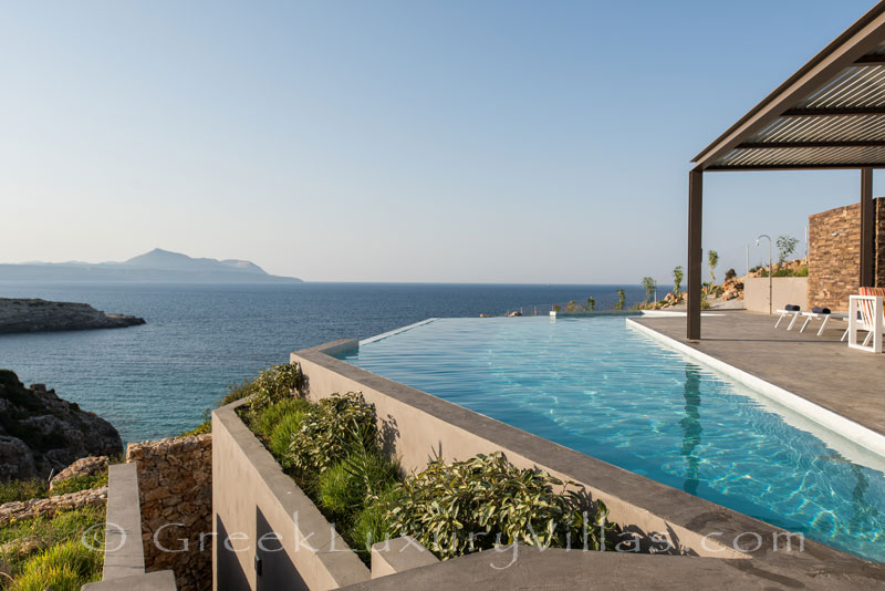 Seaview from the secluded luxury villa in Crete
