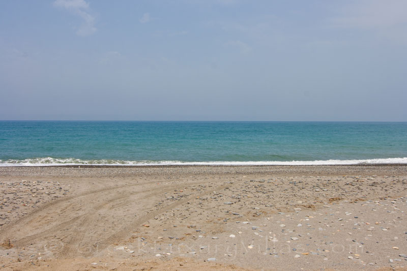 The sea in front of a beachfront villa in Maleme
