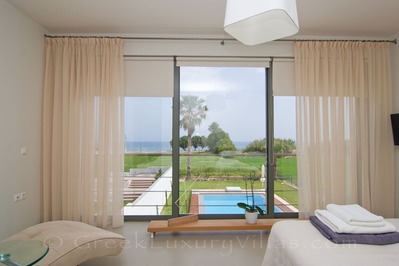 Seaview from the bed in Maleme, Crete