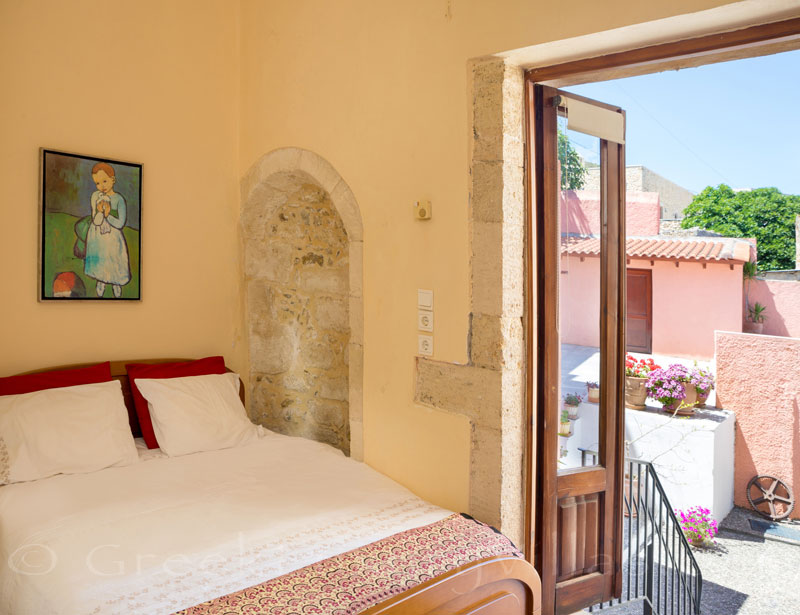 Another bedroom in an exclusive historic villa in a traditional village of Crete