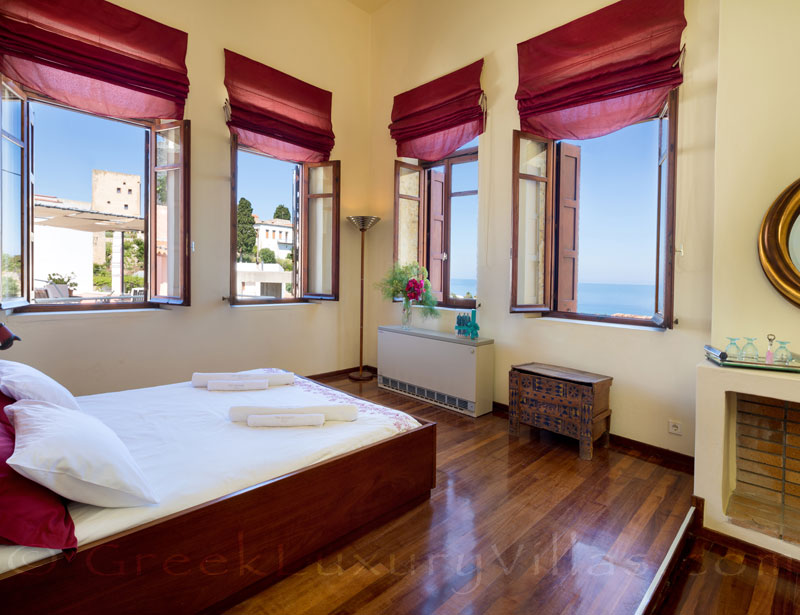 The suite in an exclusive historic villa in a traditional village of Crete