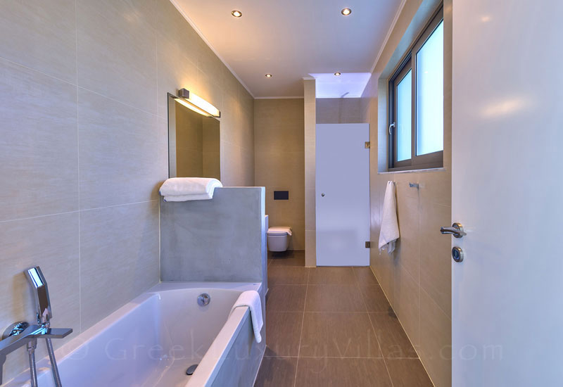 Bathroom of the modern luxury villa