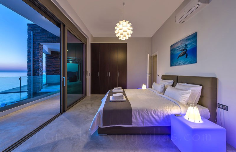 Oceanview from the bedroom of the modern luxury villa