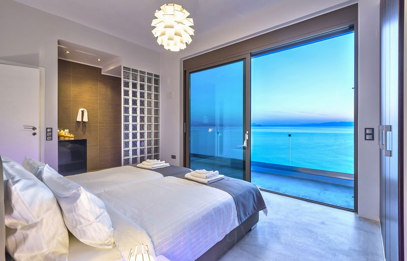 Oceanview from the bedroom of the luxury villa