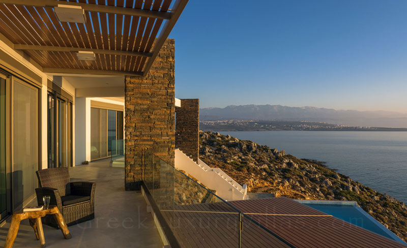 Seaview from the modern luxury villa