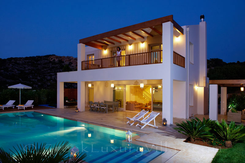 Pool of seafront villa in Almyrida Crete