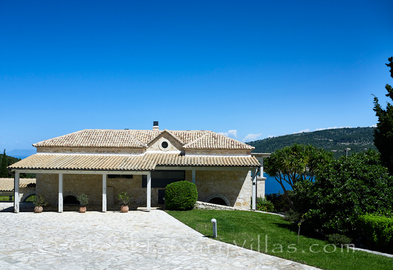 traditional stone villa with pool Sivota bay