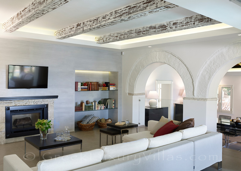 modern living room of luxury villa
