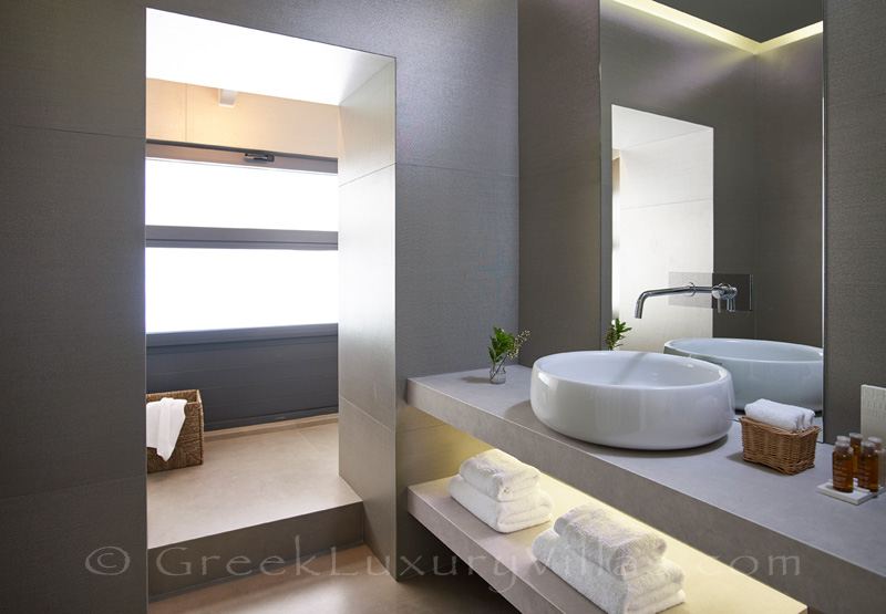 modern bathroom of master bedroom