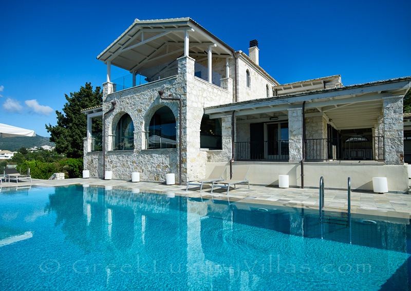 luxurious villa with large swimming pool