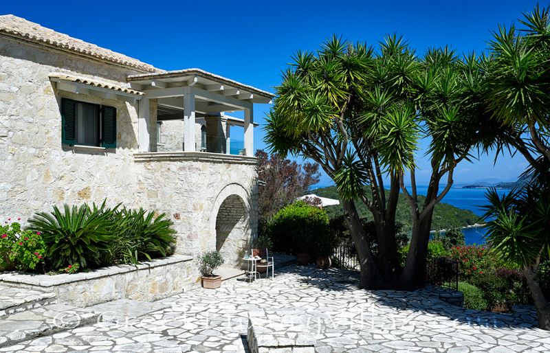 natural stone villa with sea view