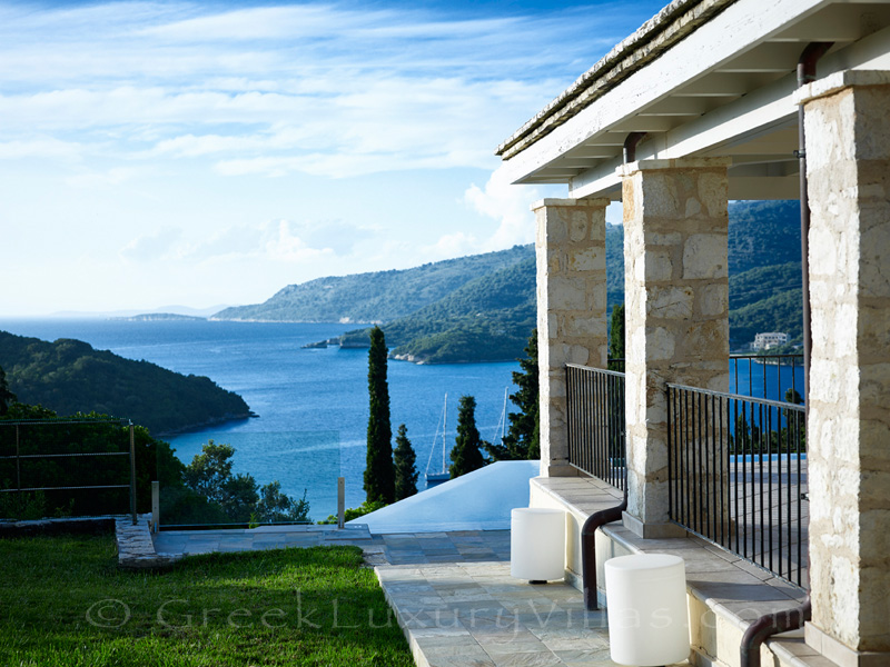 luxurious villa overlooking Sivota bay