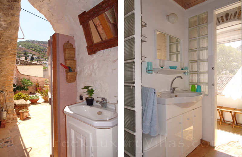 The bathroom of a traditional house in Hydra