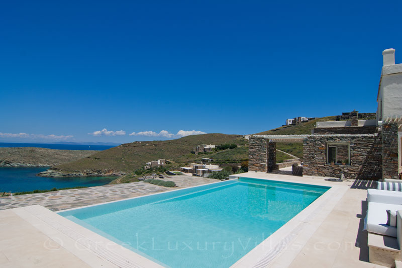 luxury villa with pool in walking distance to the beach