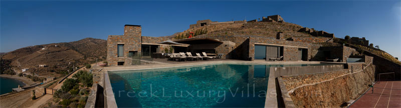 Big super luxury villa by the beach on Kea