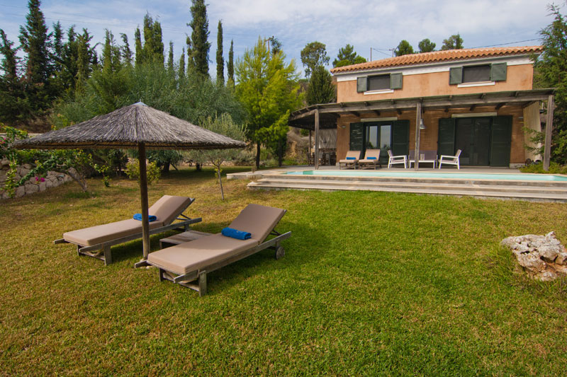 A modern, two bedroom villa with a pool in Kefalonia