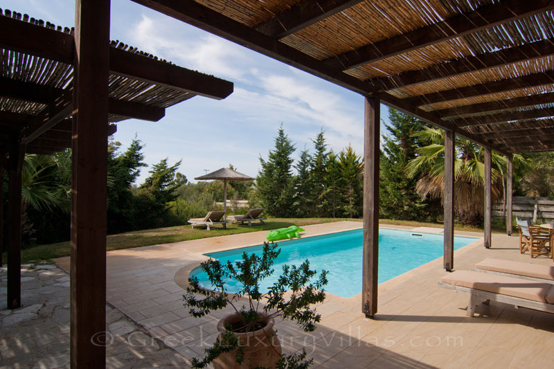 A modern, three bedroom villa with a pool in Kefalonia, near the beach