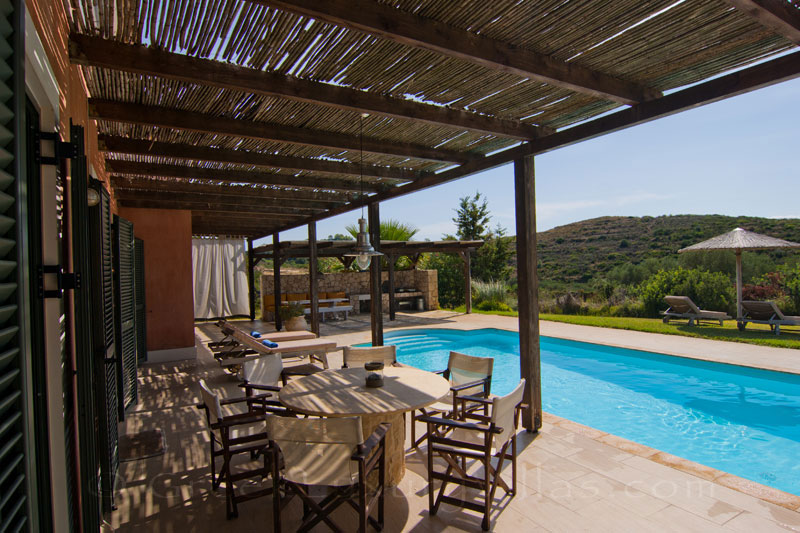 A modern, three bedroom villa with a pool in Kefalonia