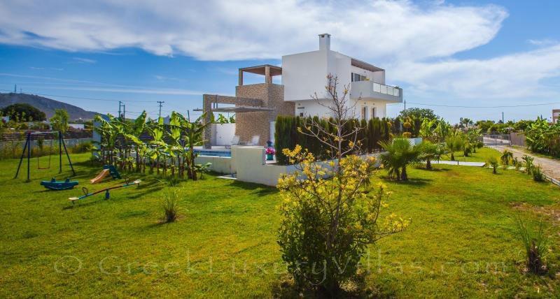 Kos holiday house with pool near Tigaki Beach