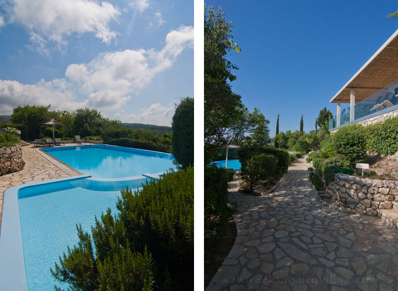 Luxurius villa with private baby pool in Lefkas