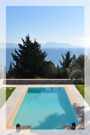 Modern luxury villa with private pool on Lefkas