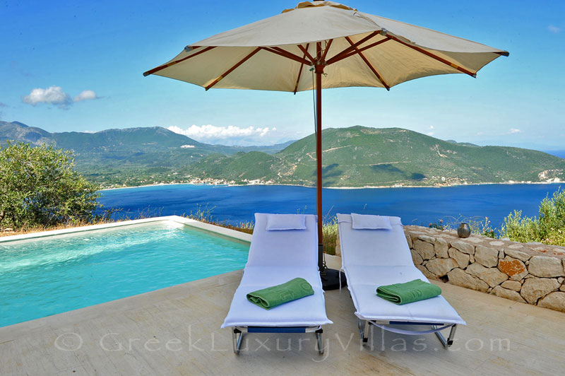 A luxury villa with a pool that sleeps six people and has great seaview in Lefkas